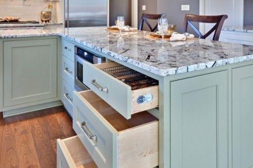 Green Cabinets Design Ideas Pictures Remodel And Decor Contemporary Kitchen Green Granite Kitchen Granite Countertop Designs