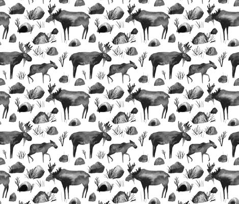 Winter Moose by drawnbycat