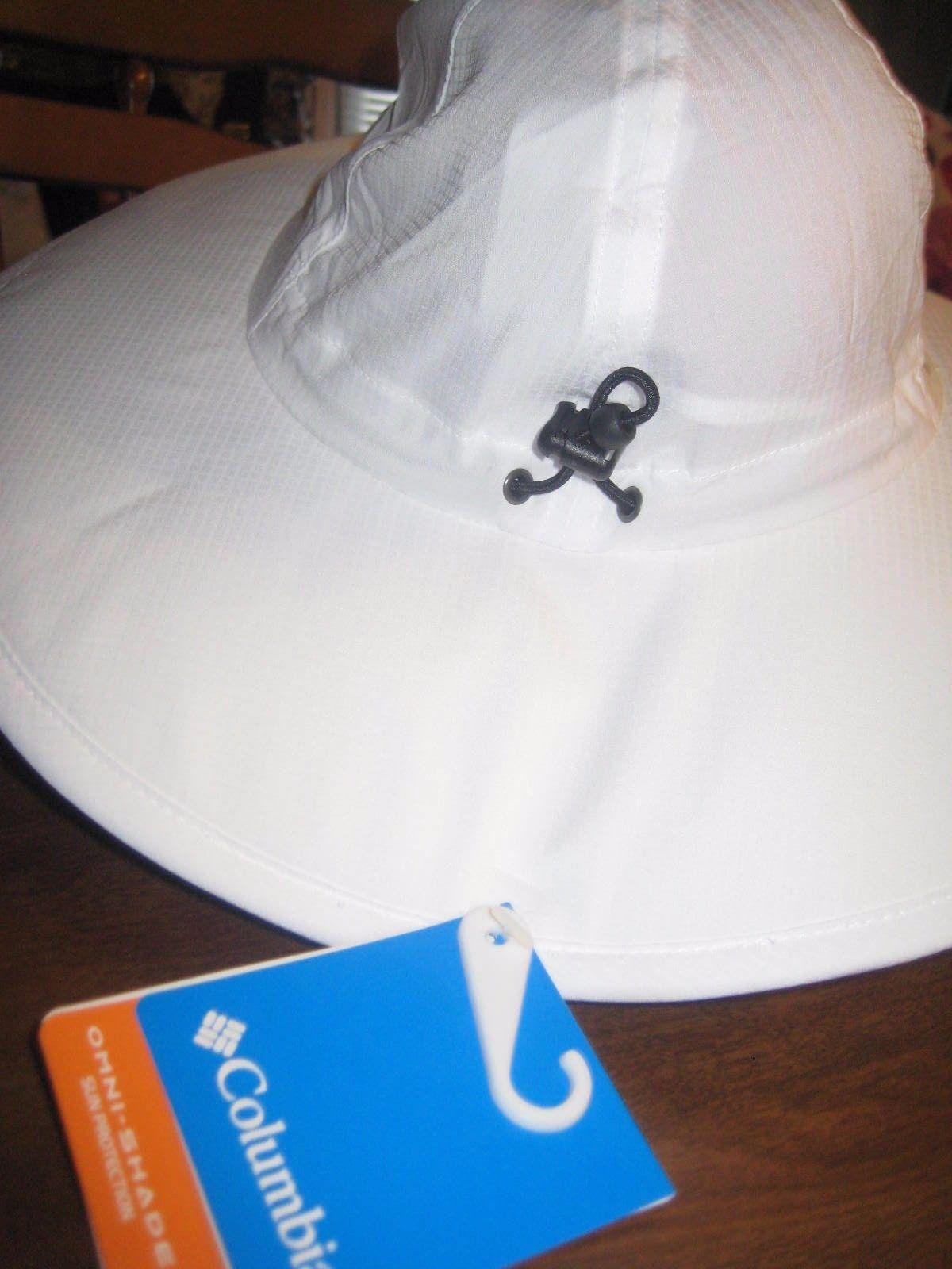 NWT  30 COLUMBIA Women s Sun Goddess II Booney Hat One Size UPF 40 White NEW f7c1ce7abdd