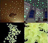 100pzas Luminoso Pegatinas De Pared Estrellas Luminosas Pegatina Pared Fluorescente Brilla Pegatinas De Pared Estrellas En El Techo Decoracion Infantil Paredes