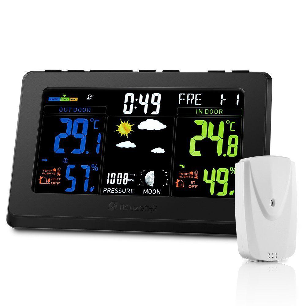 Digitale a colori LCD auto sveglia meteo temperatura termometro igrometro