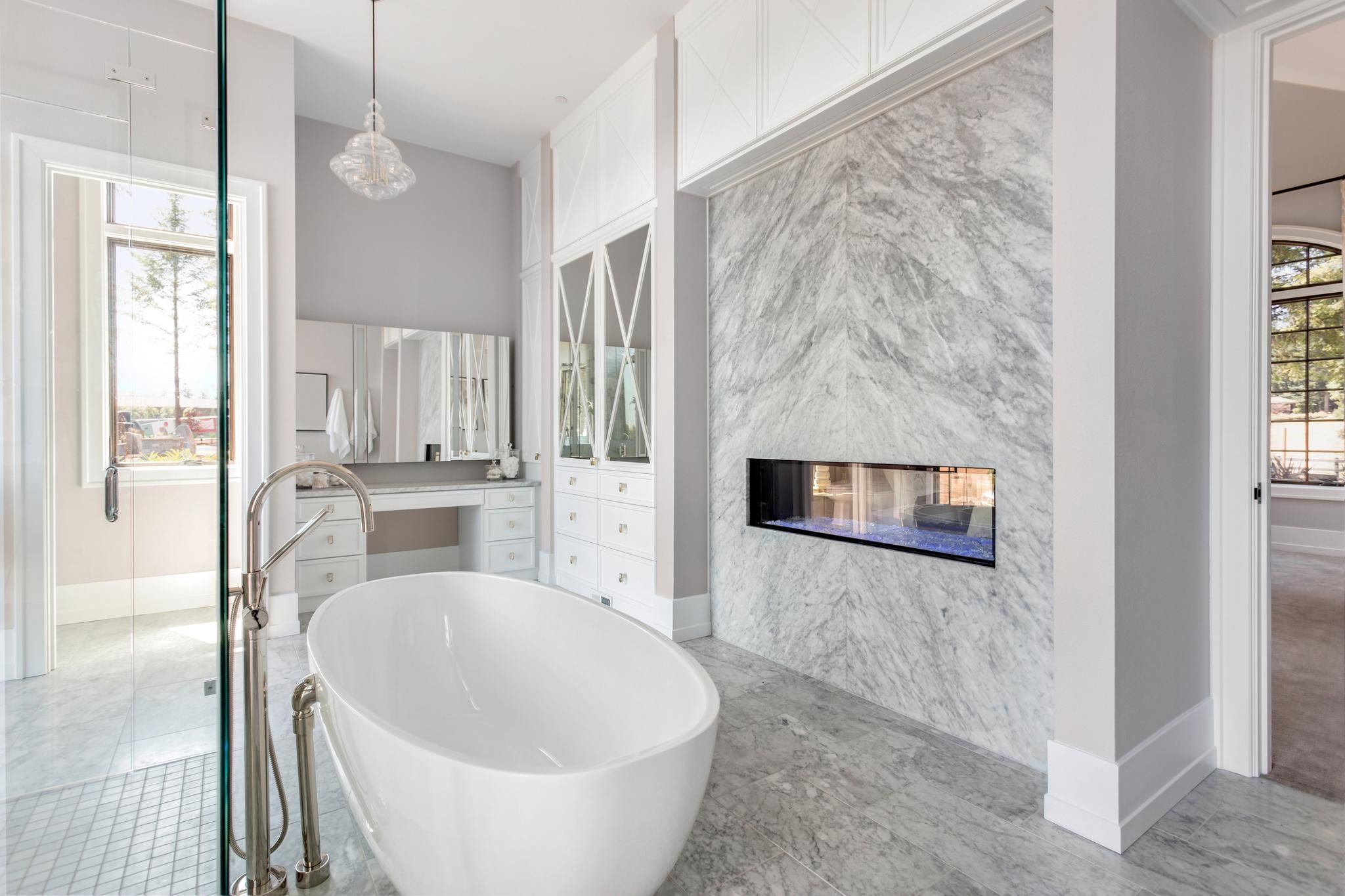 9 Crucial Questions To Ask Before A Bathroom Remodel Begins White Master Bathroom White Bathroom Decor Bathroom Trends