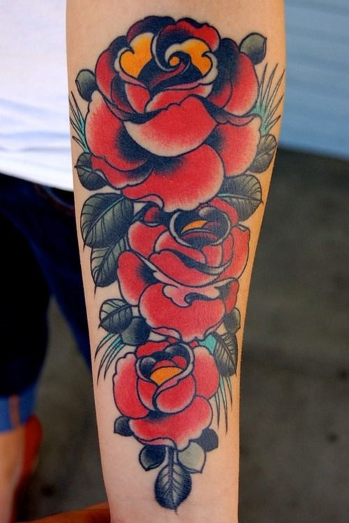 By Adam Barton Tattoos Body Art Tattoos Red Rose Tattoo
