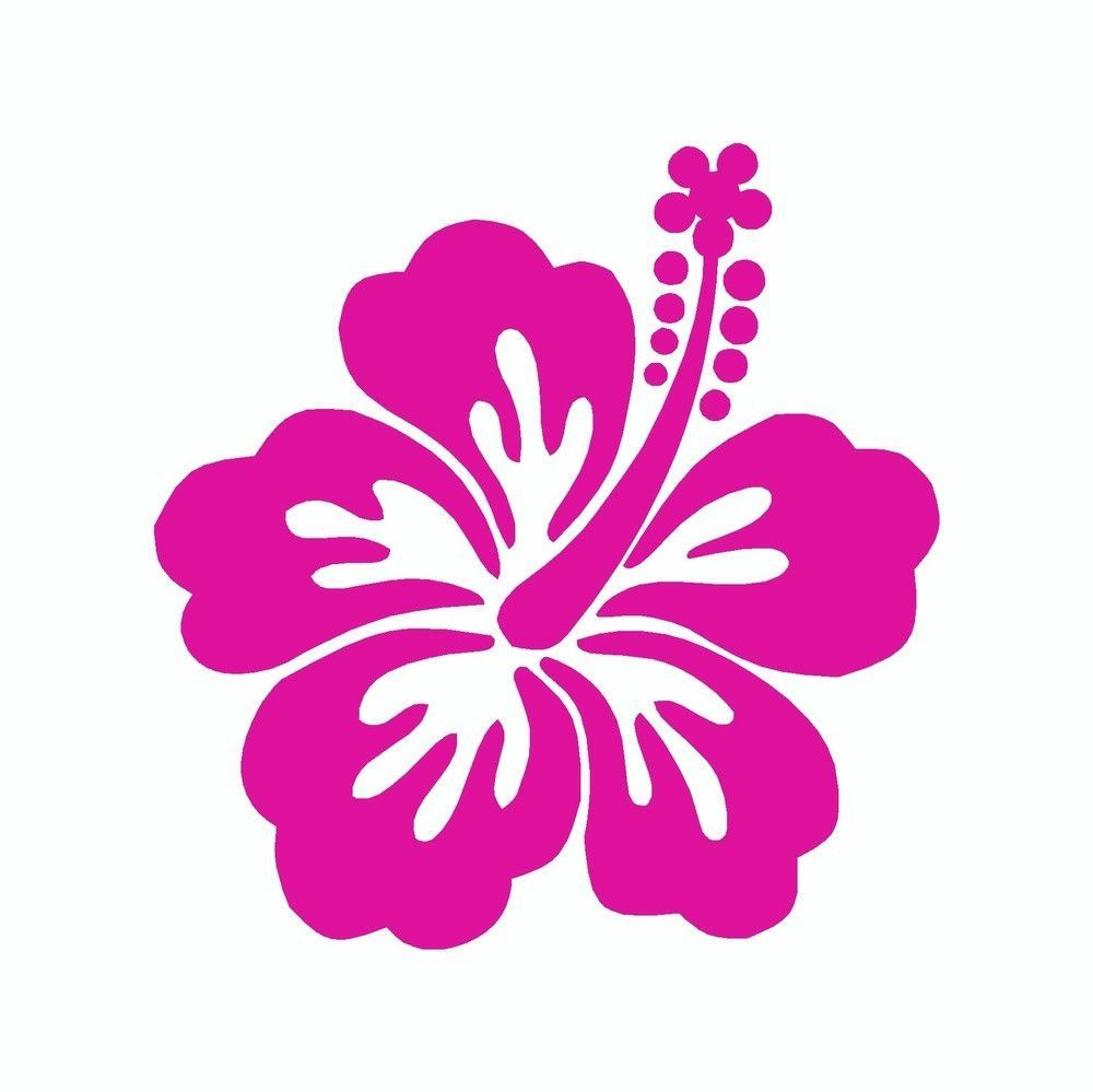 Hibiscus Flower Vinyl Car Sticker Hawaiian Flower Tattoos Flower Stencil Hibiscus Flowers [ 999 x 1000 Pixel ]