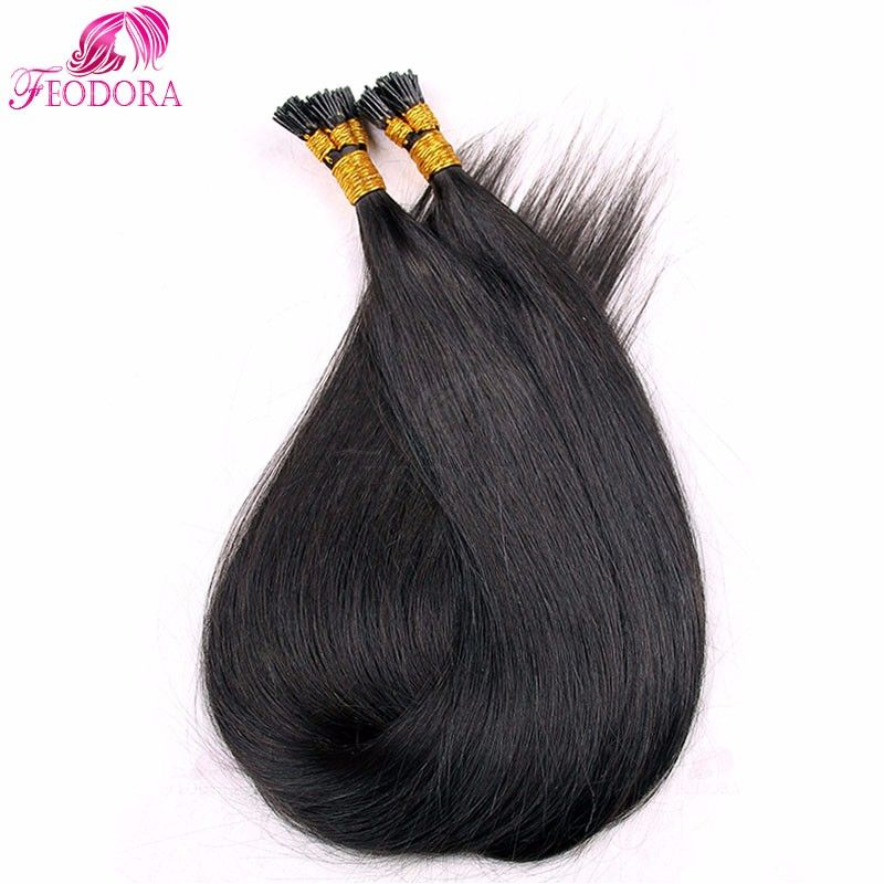 I Tipe Prebonded Remy Hair Extensions Straight Indian Human 1g U