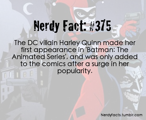 I remember when they introduced her on the show! Batman the animated series was the only DC based thing I liked and I continued watching because of the addition of Harley Quinn. I loved her instantly.
