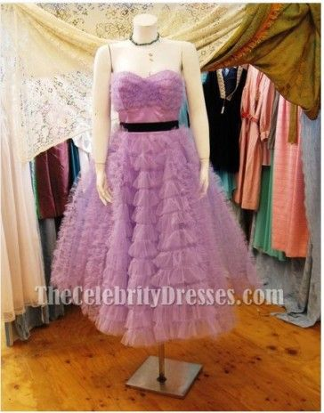 Last Song Wedding.Miley Cyrus Purple Dress From The Last Song Strapless Prom