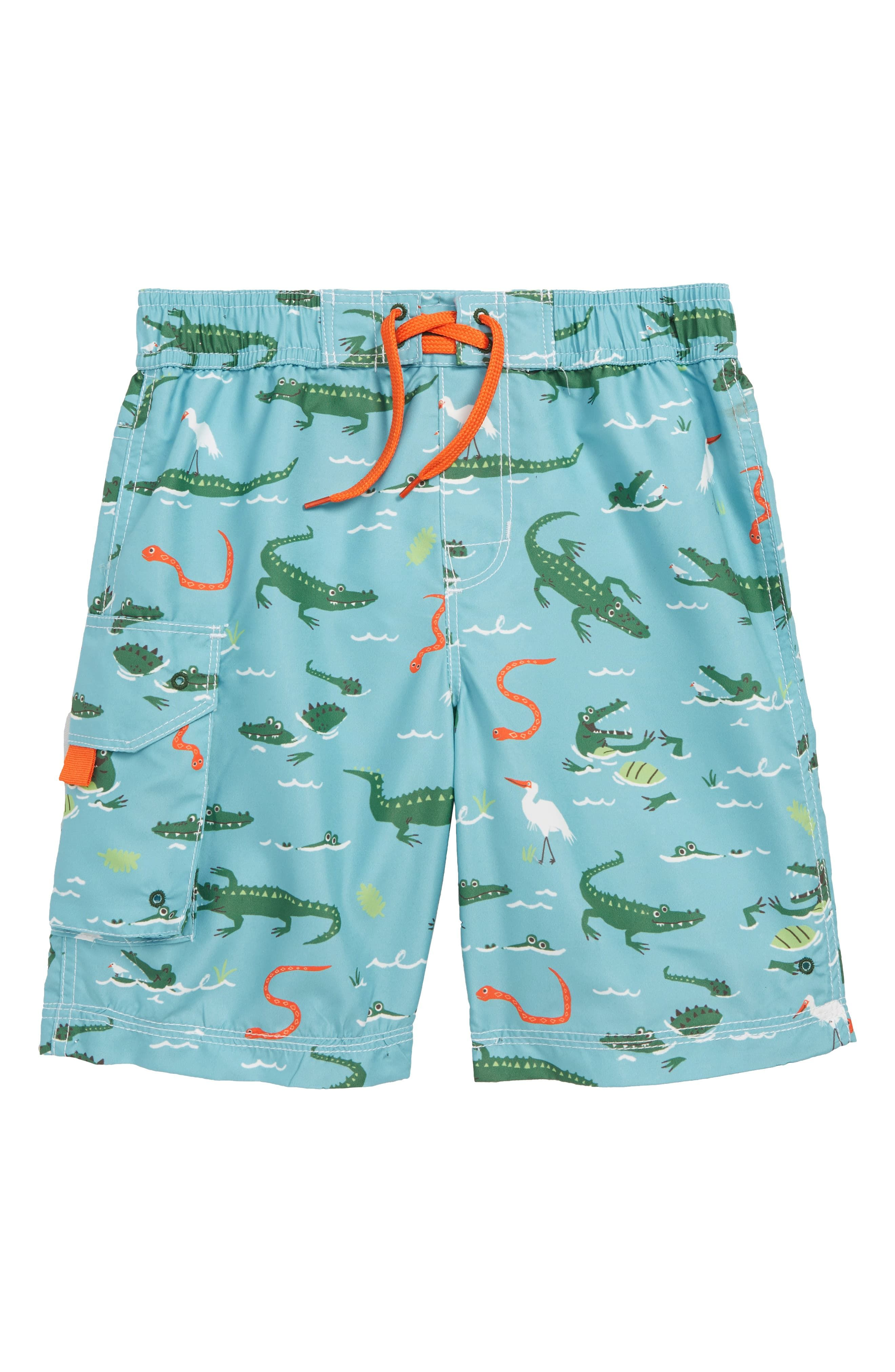 60ded5be33 Toddler Boy's Hatley Swamp Gators Board Shorts, Size 2 - Blue ...