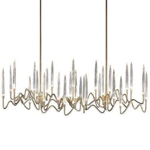 Il pezzo 3 long chandelier shop il pezzo mancante online at artemest