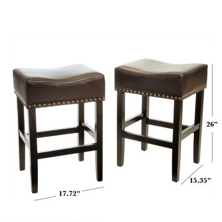 Outstanding Noble House Lonnie Brown Backless Counter Stool Set Of 2 Cjindustries Chair Design For Home Cjindustriesco