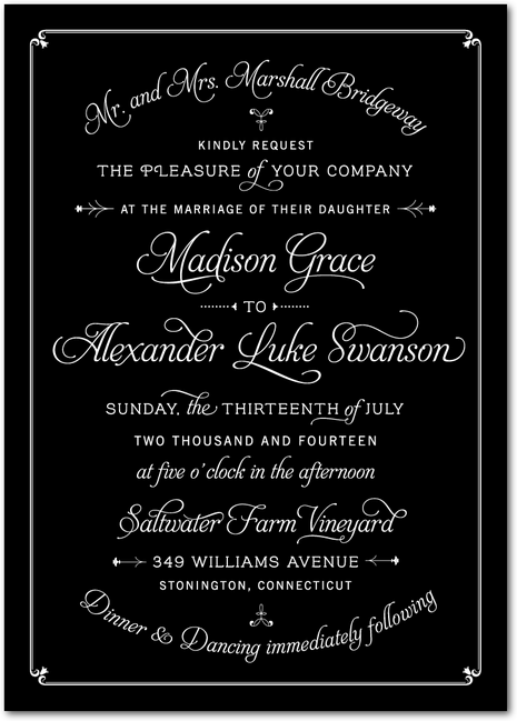 Love the font the bride and groom's name is in and also