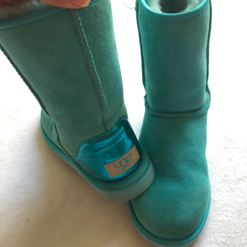 abf1a947408 UGG Shoes | Turquoise Metallic Uggs Women'S Size 5 | Color: Blue ...