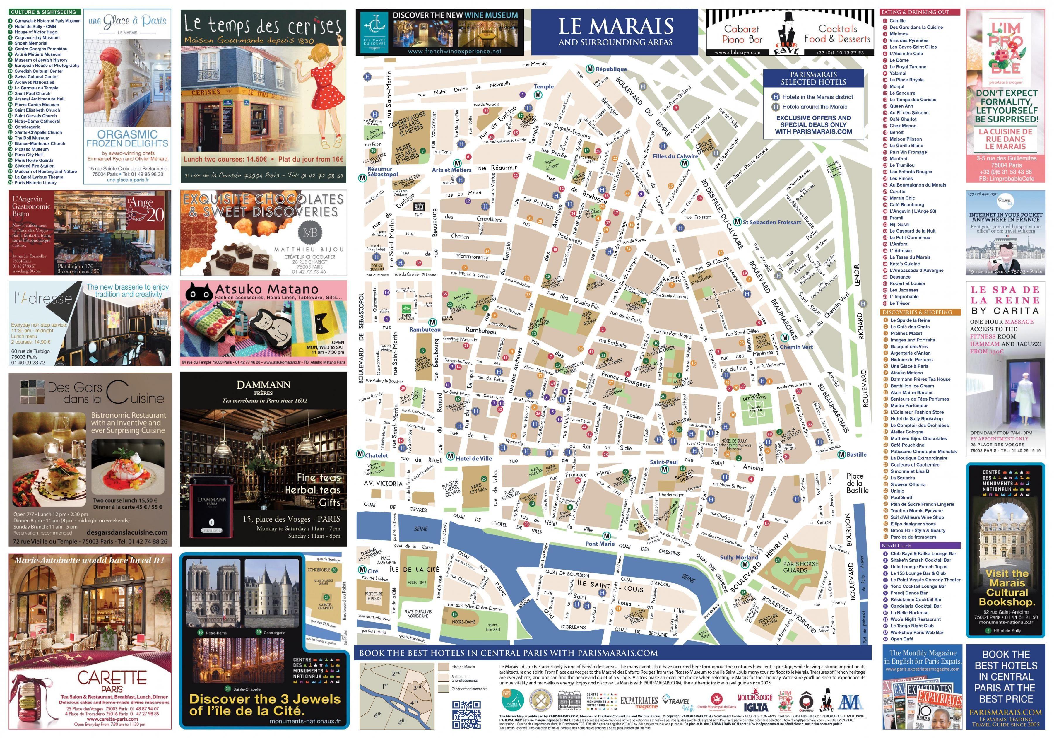 the district marais paris map map of the district marais paris france