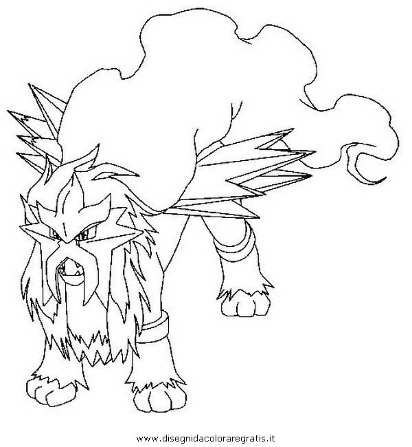 Good Pokemon Coloring Pages | Entei+pokemon+coloring+pages