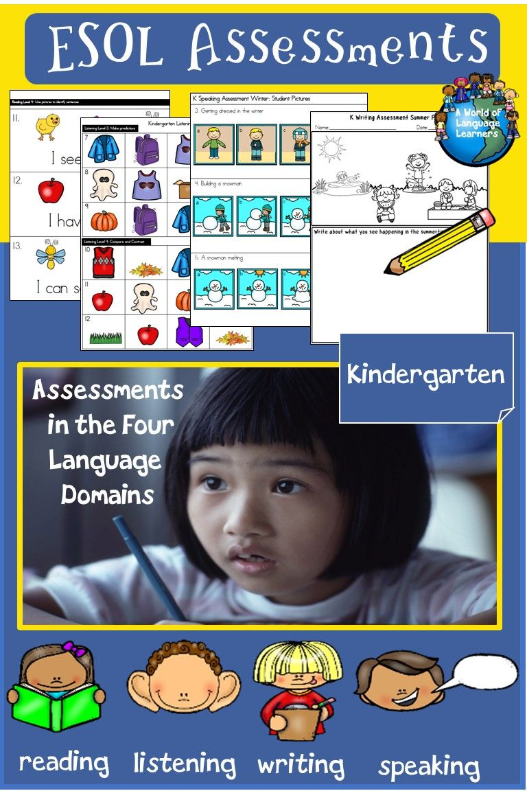 Esol Assessments Kindergarten Print And Digital Kindergarten Assessment Esl Teaching Resources Writing Assessment