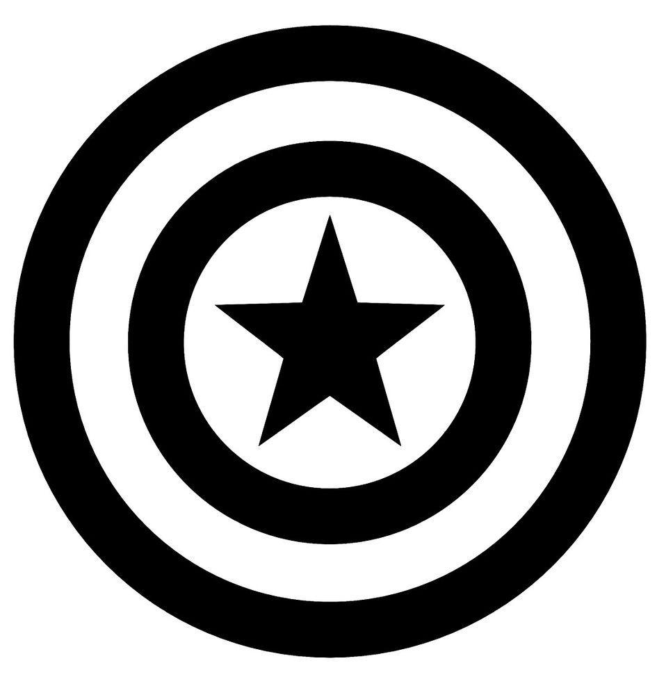 Captain America Vinyl Decal Sticker Car Laptop Window Oracal Marvel Avengers Suv Captain America Tattoo Captain America Avengers Symbols [ 1000 x 945 Pixel ]