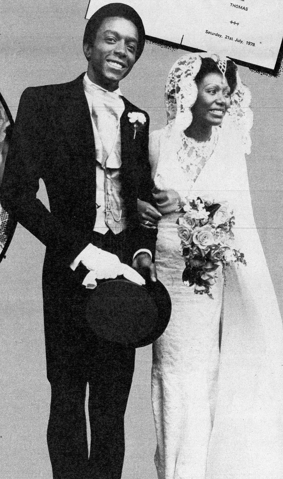 Thomas Pemberton And Liz Mitchell 1979 Black Music Celebrity Weddings Boney M