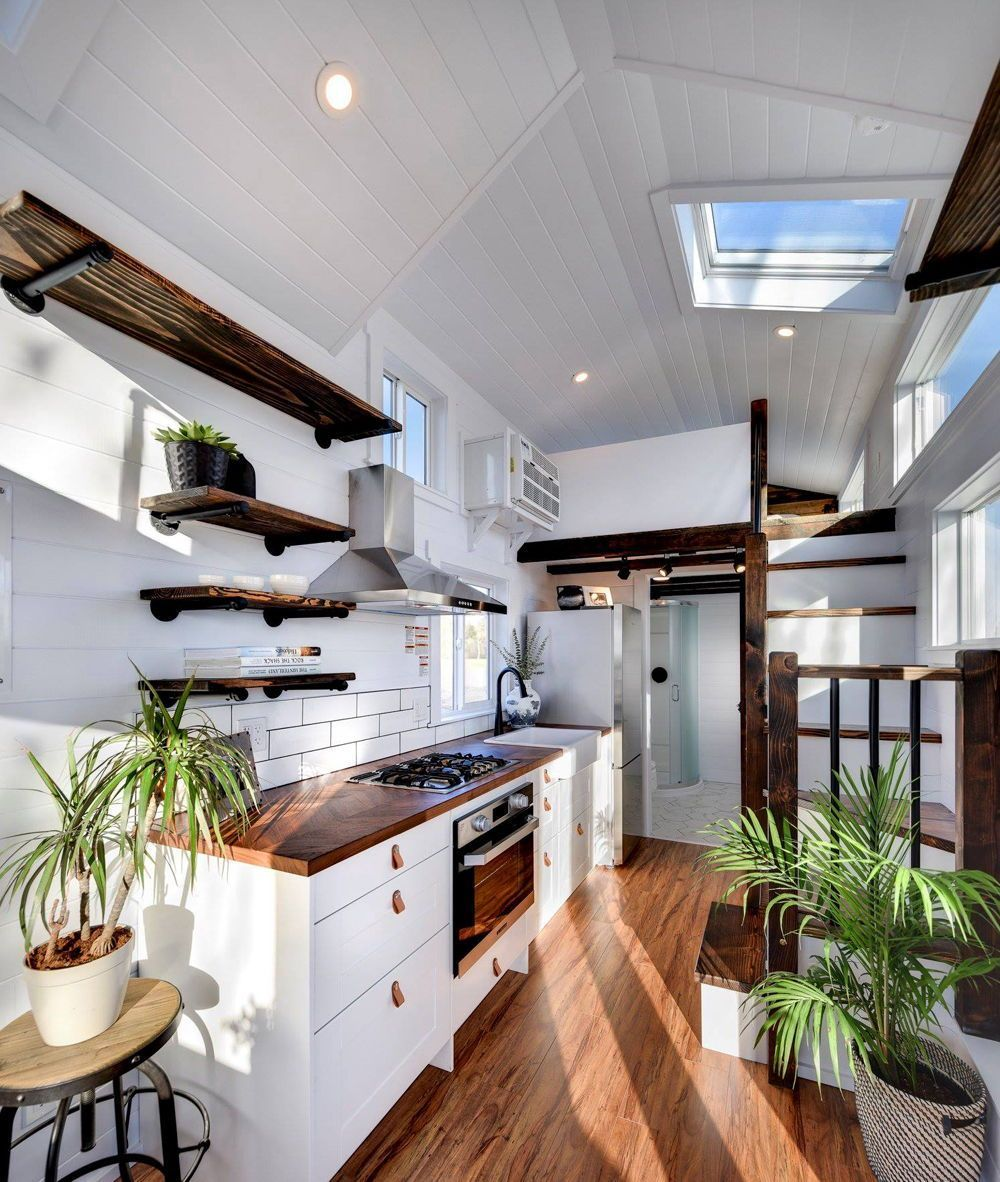Experience the Lake Life in a Luxurious Tiny House by Whatcom Lake Cottages #tinyhousekitchens