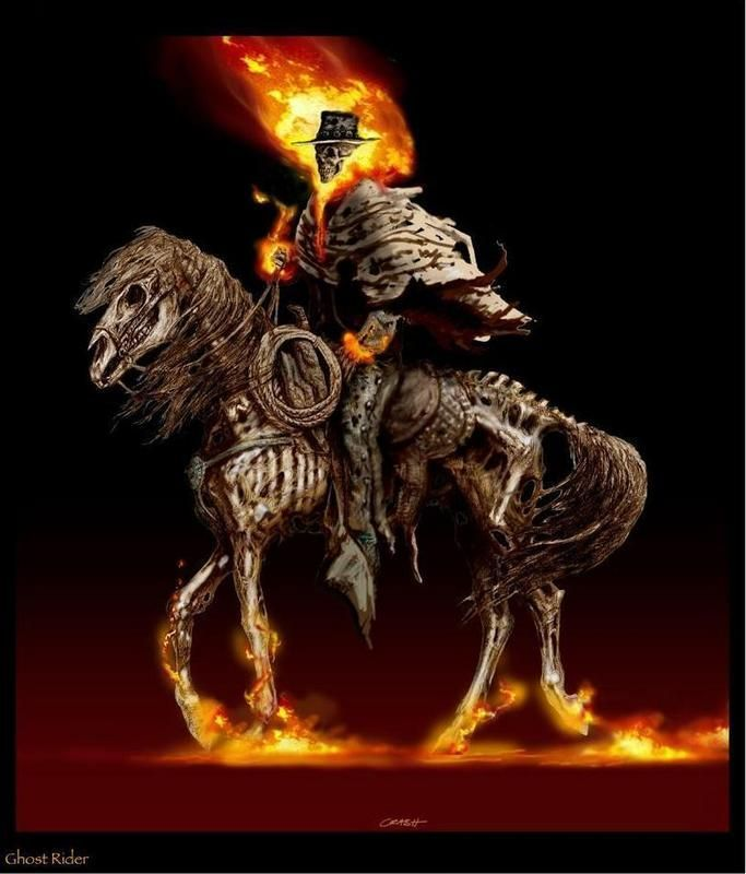 ghost rider on horse tattoo - Google Search | craig | Ghost