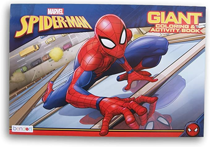 Amazon Com Bendon Marvel Spider Man Giant Coloring And Activity Book 10 75 X 16 Spiderman Coloring Coloring Books Marvel Spiderman