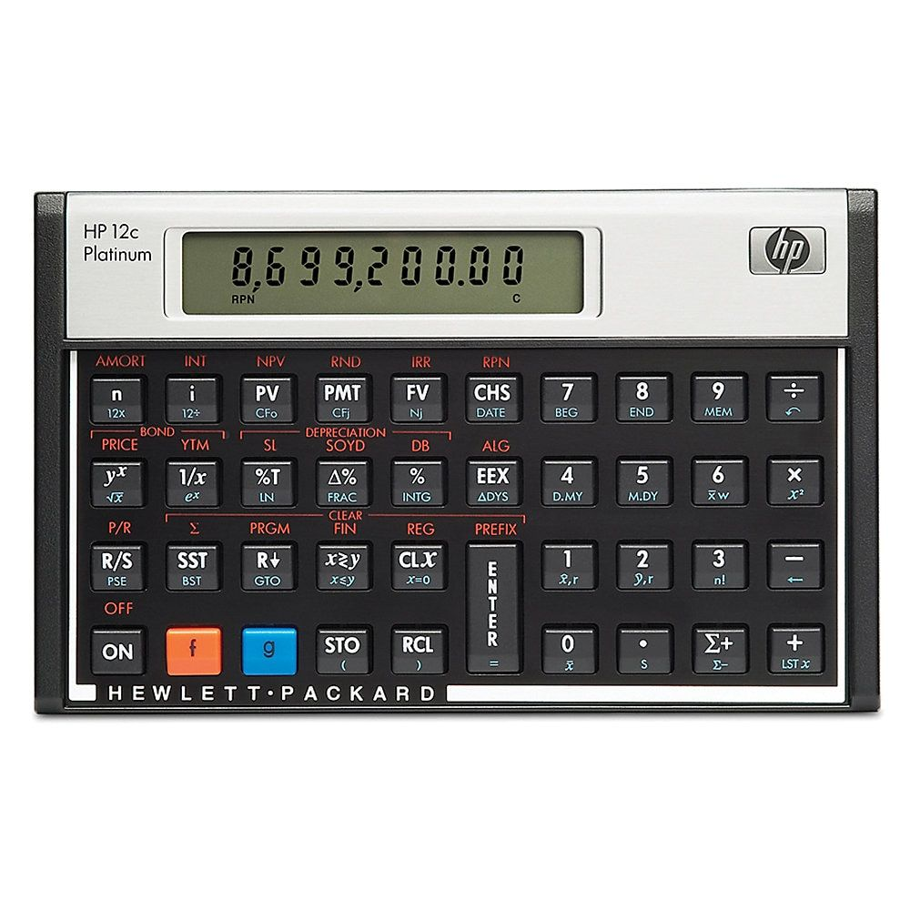 Hp 12c Financial Calculator Platinum Edition Online Mortgage