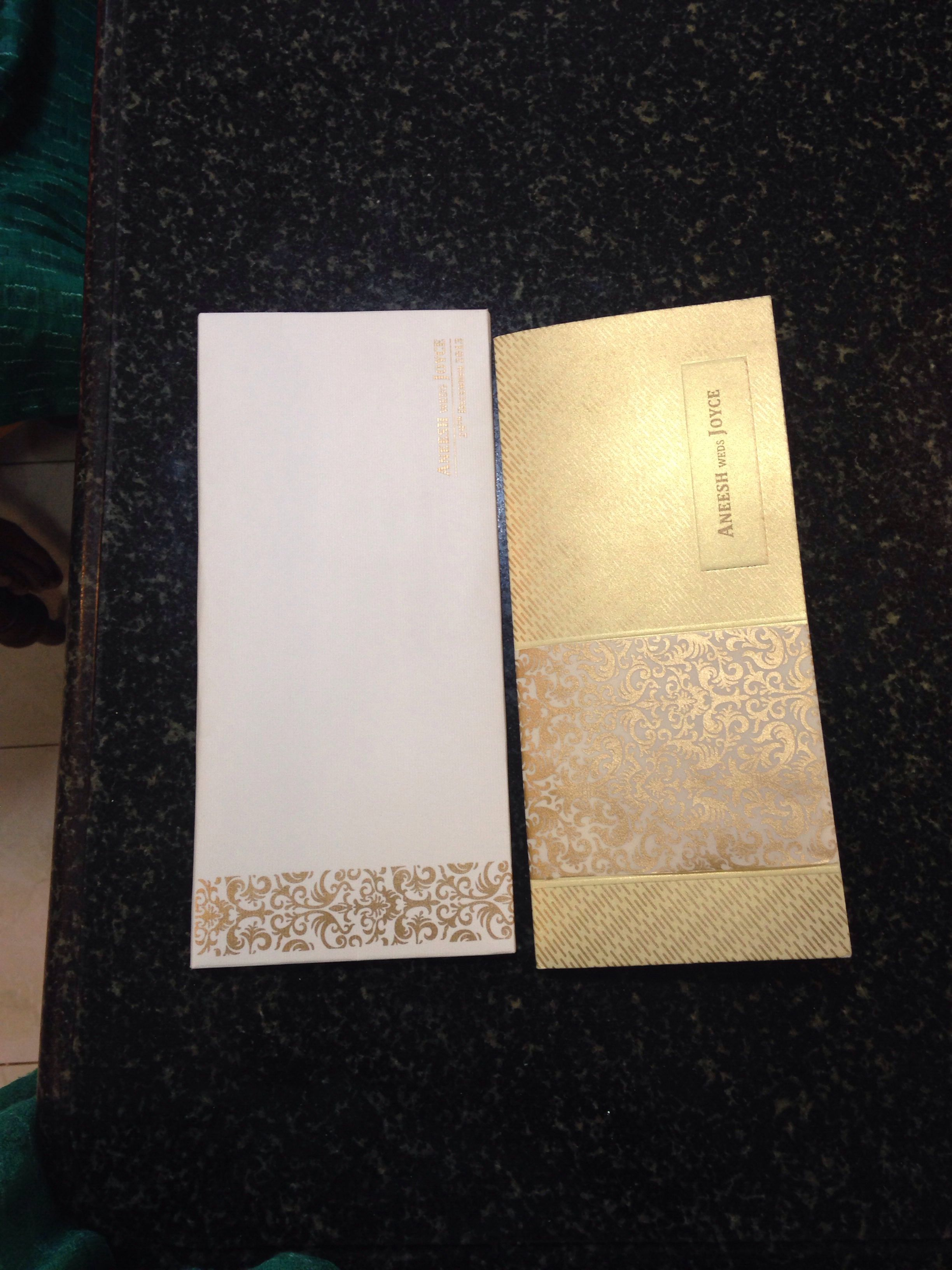 how to write muslim wedding invitation card%0A Gold colour invitation card
