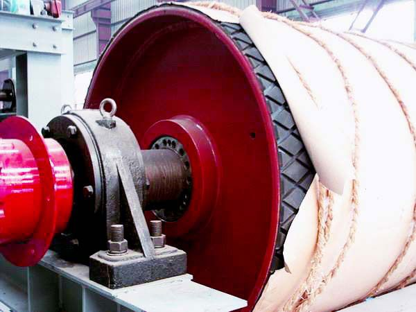 The Belt Conveyor Drum Usually Installs In The Belt Conveyor Which Is Used In Coal Mines Metallurgy Machinery Ports Construction Elec Pulley Conveyor Belt