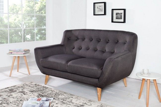 retro designklassiker 2er sofa scandinavia meisterst ck. Black Bedroom Furniture Sets. Home Design Ideas