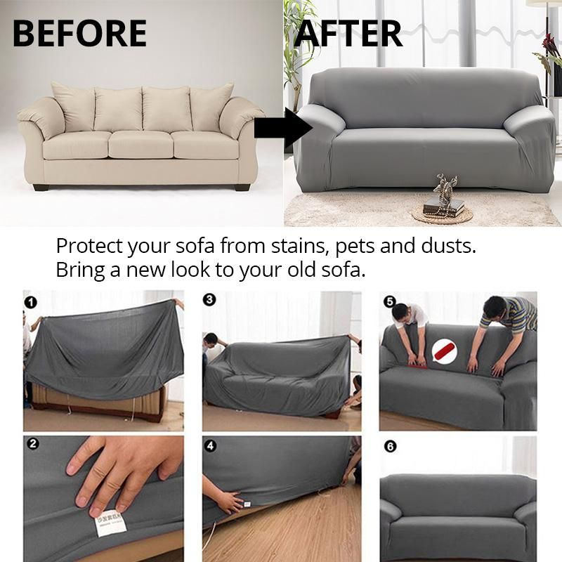 Washable Elastic Sofa Cover 16 Color In 2020 Sofa Covers