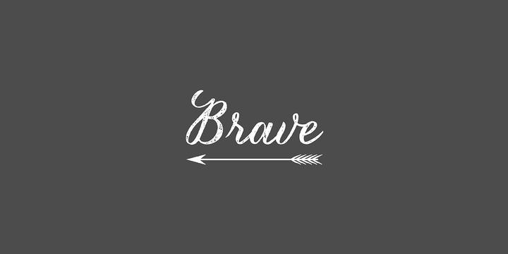 Brave Font Lettering Tattoo Fonts Fonts Tattoos