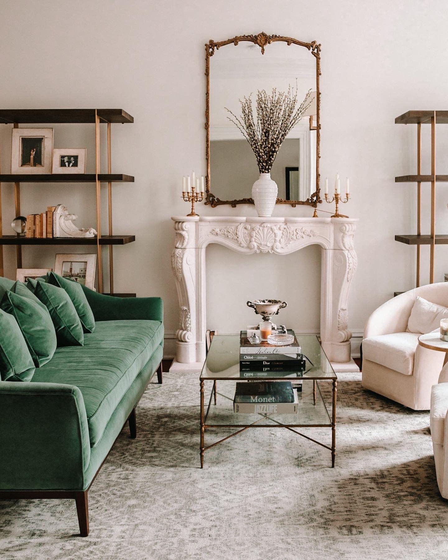 Photo of Shop the Eloise Camelback Sofa, Jade Velvet  via your #myOKLstyle
