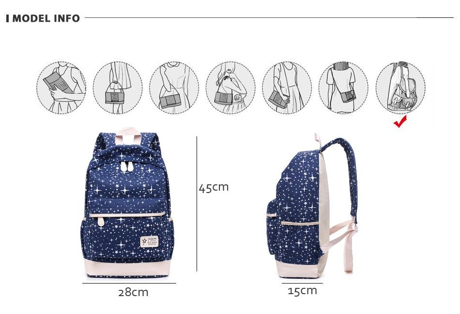 112111 | Canvas backpack women, Backpacks, Canvas backpack