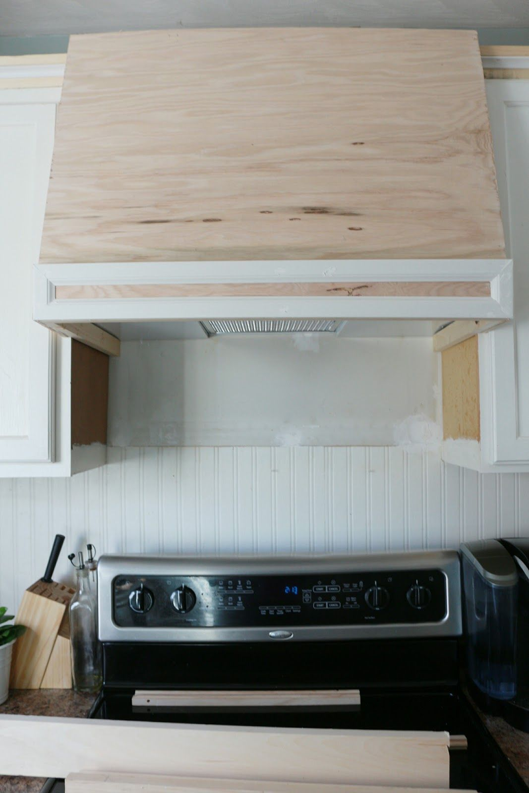 My Diy Kitchen How I Built A Rangehood Over An Existing Cabinet Made By Carli Diy Kitchen Renovation Diy Kitchen Remodel Diy Kitchen