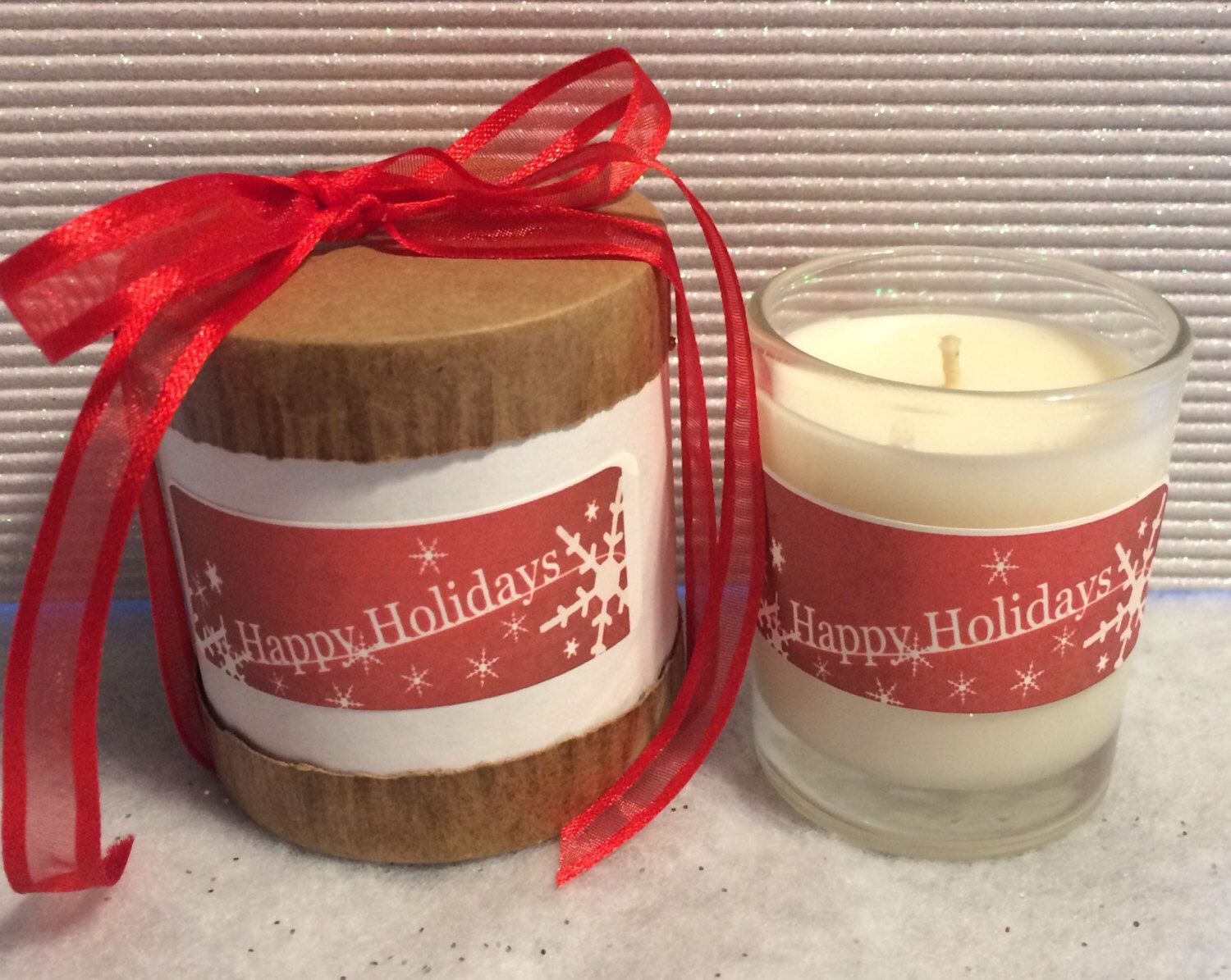 A personal favorite from my Etsy shop https://www.etsy.com/listing/493069195/holiday-gift-candle-3oz-soy-candle