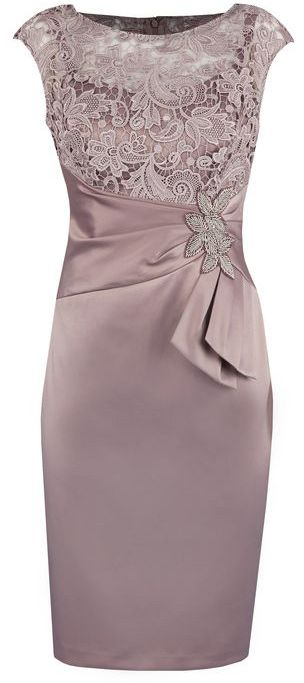 c968ccb18f Sheath Grey Bateau Cap Sleeves Mother of The Bride Dress with Lace ...