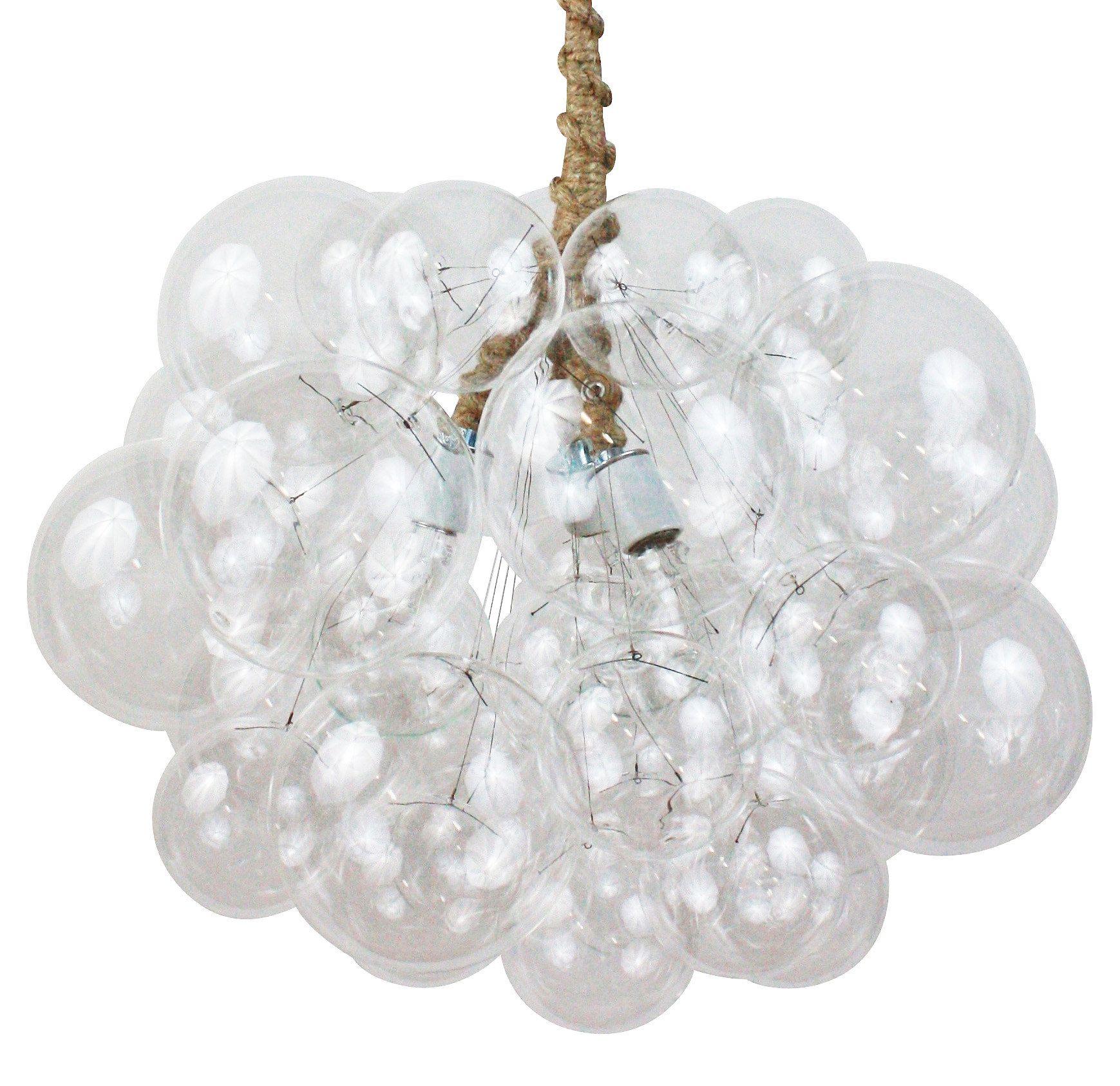 Large cloud bubble chandelier jute cord one kings lane lighting large cloud bubble chandelier jute cord one kings lane arubaitofo Images