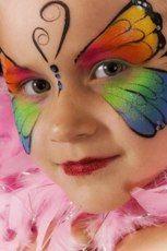 trucco facciale realizzato con tecniche di face-painting, corsi di truccabimbi