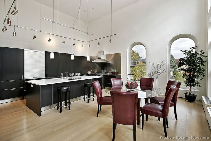 Contemporary Kitchen Cabinets #21 Kitchendesignideas Custom Kitchen Designs With High Ceilings Design Decoration