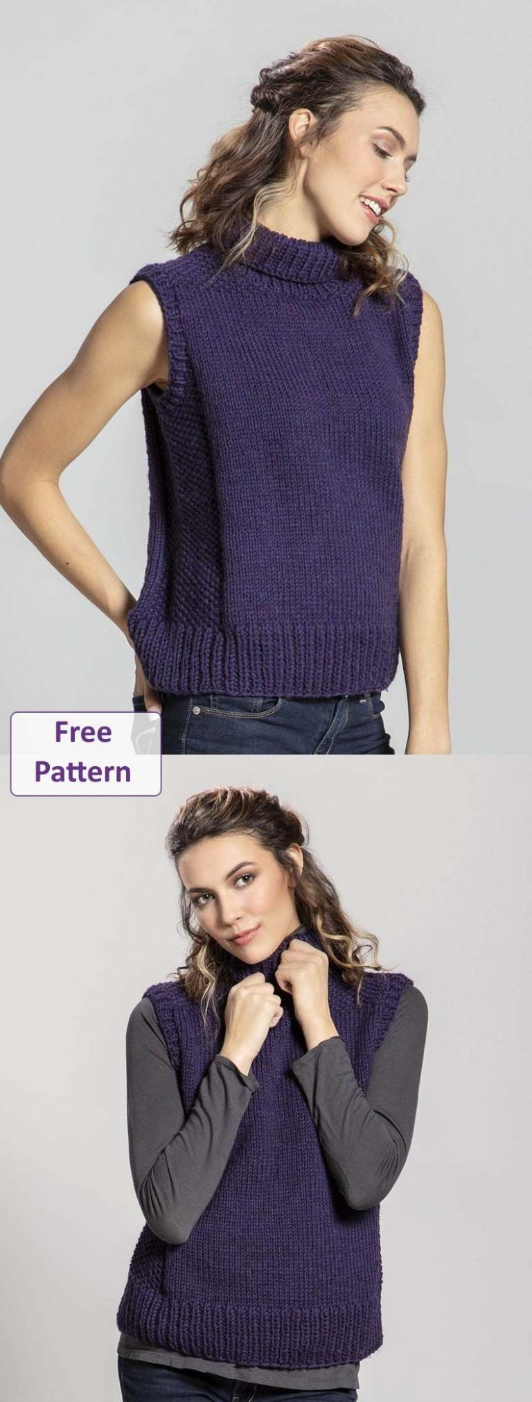 Free Knitting Pattern for a Vest Top Citadel