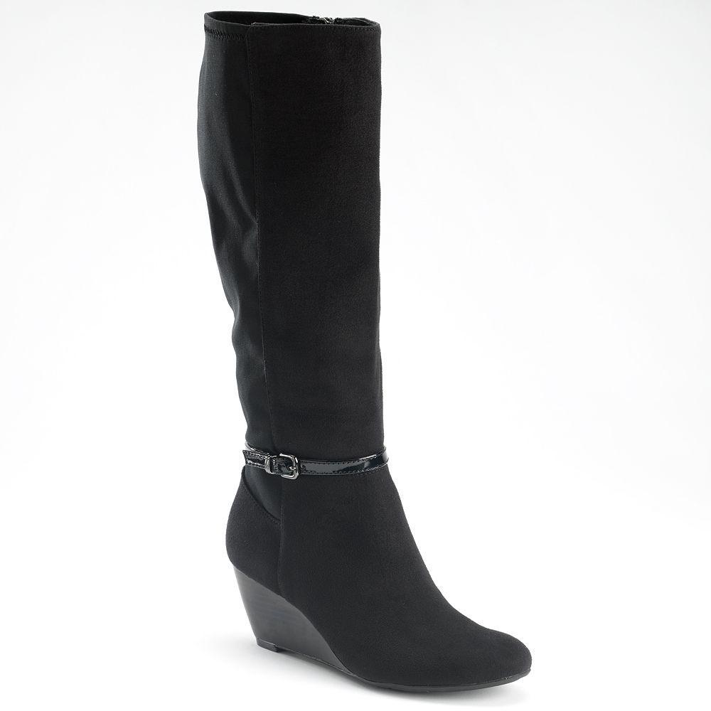 Dana Buchman Tall Wedge Boots. super