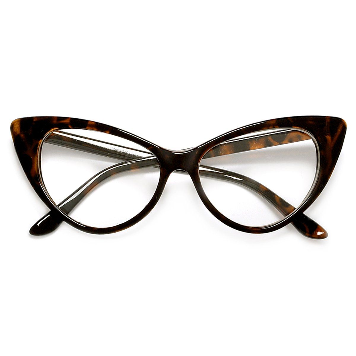 Retro Fashion Mod Chic High Pointed Cat Eye Sunglasses New