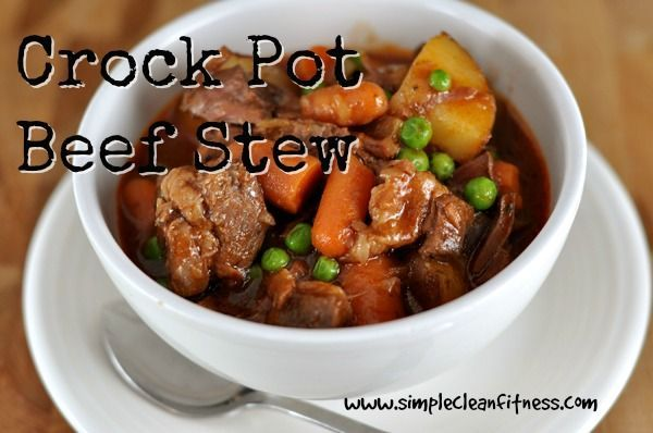 Crockpot Beef Stew - Clean Eating Recipes Healthy Recipes - www.simplecleanfi...