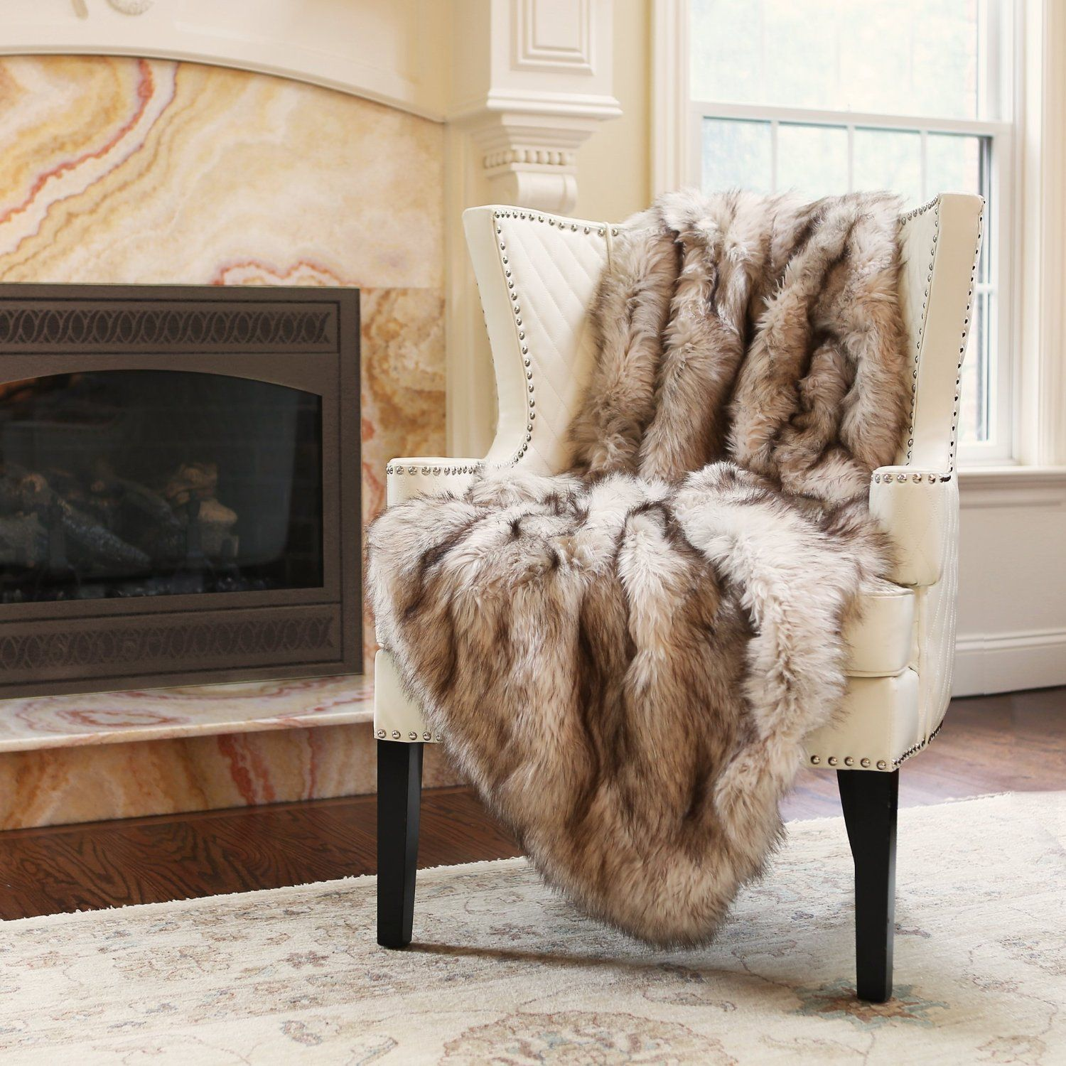 Best Home Fashion Champagne Fox Faux Fur