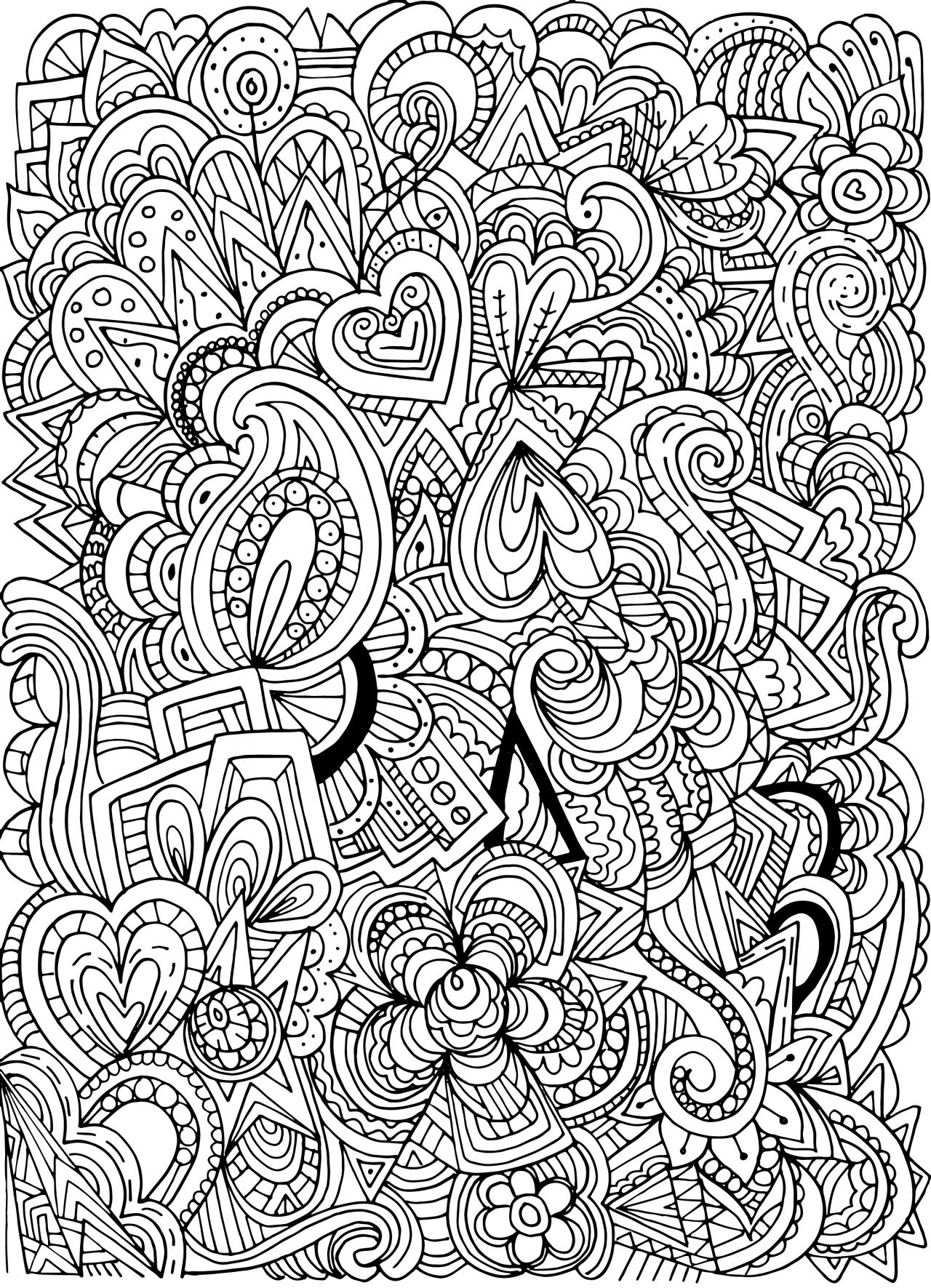 Free Printable Adult Coloring Pages Patterns