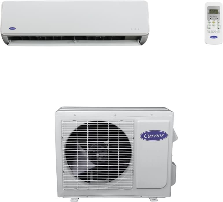 Carrier Comfort Series Mfq123 Wall Mounted Air Conditioner Air Conditioner Heater Ductless