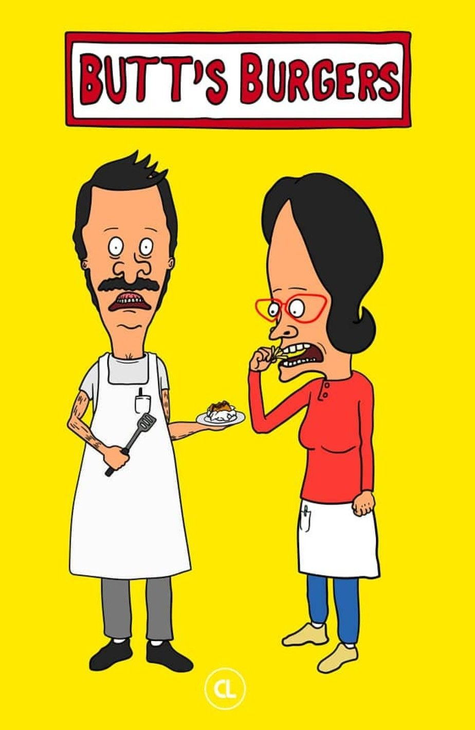 beavis & butthead x butt's burgers, bob's burgers | funny stuff