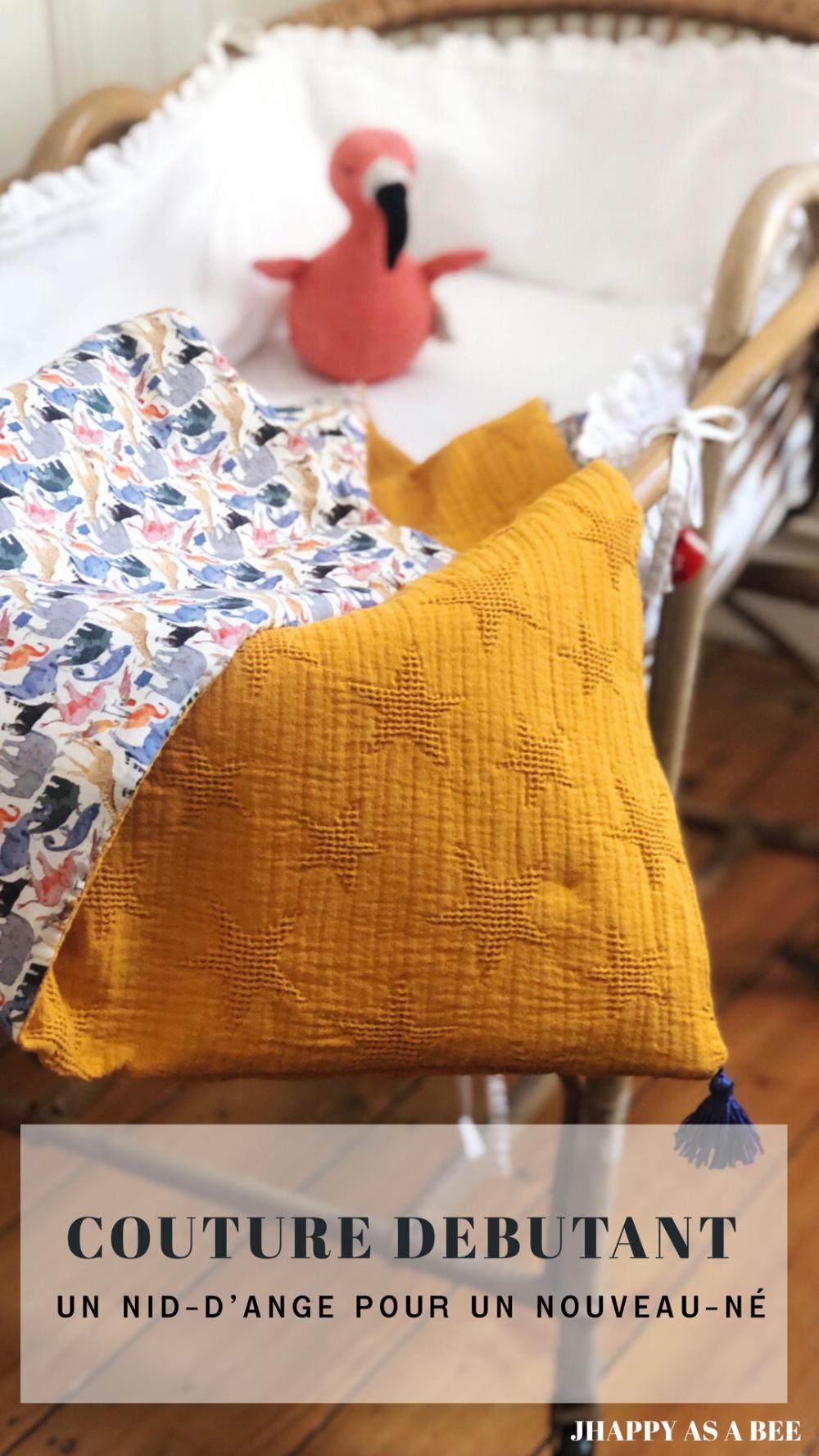 Couture débutante : une couverture nid d'ange pour nouveau-né !