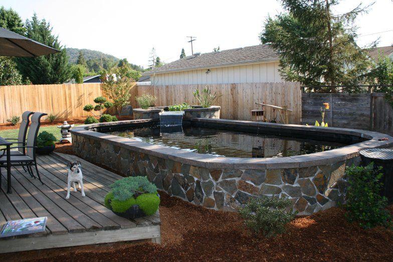 raised koi pond garden Image result for raised koi pond design | Ideas for the