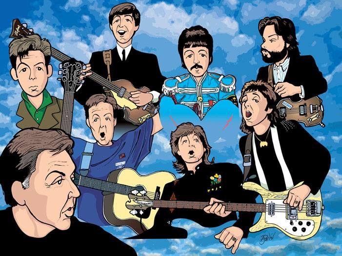 Beatles Art The Paul Mccartney Rock Stars Fan Guitar Music Fanart Guitars