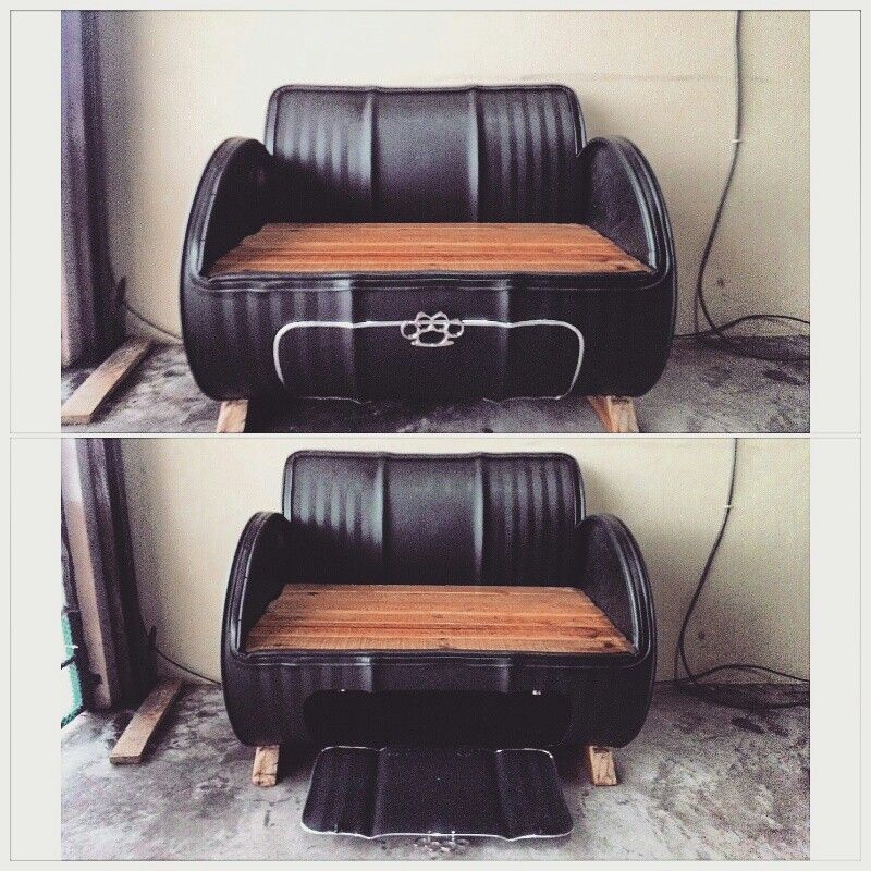 DIY Oil Barrel Couch Industrial Concept Furniture Doitmyself Project